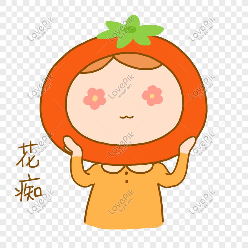 Photo De Tomate Petite Fille Dessin Animé De Tous Les Jours