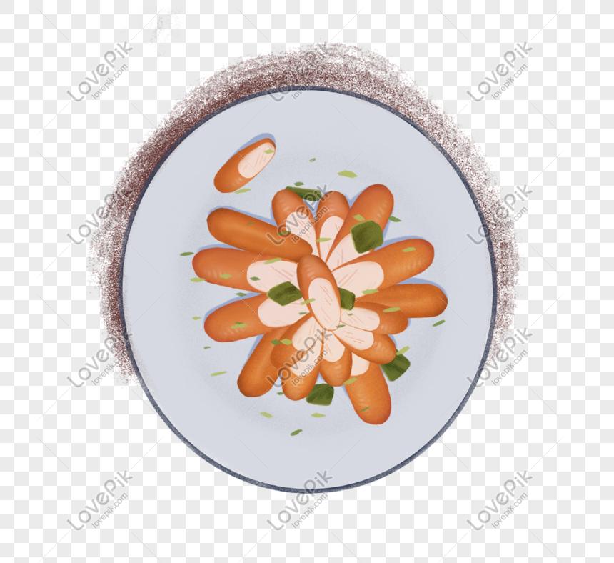 Kartun Sosej Ham Lazat Untuk Pengiklanan Makanan Dan Minuman