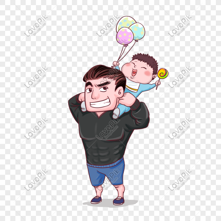 Ayah Hari Bapa Dan Anak Gembira Memainkan Imej Kartun Gambar Unduh Gratis Imej 610798328 Format Psd My Lovepik Com