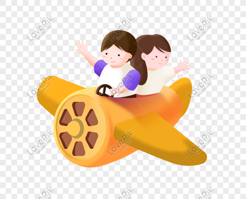 cute airplane cartoon png