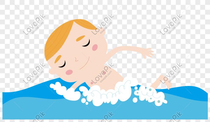 Lovepik صورة Psd 610826579 Id الرسومات بحث صور طفل لطيف الكرتون السباحة في الصيف