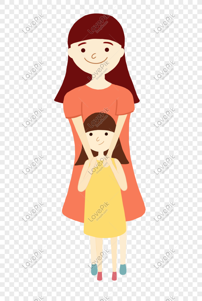 Ibu Dan Anak Perempuan Memeluk Satu Sama Lain Gambar Unduh