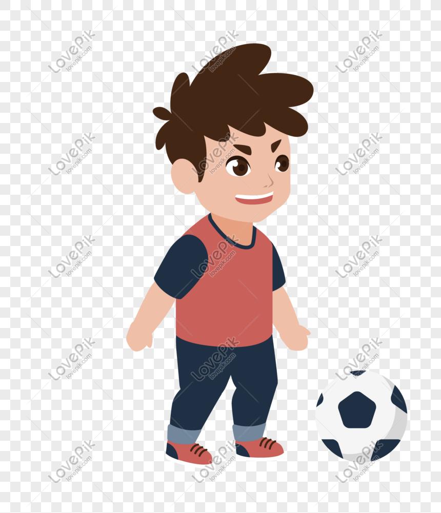 Budak Kecil Bermain Bola Sepak Di Piala Dunia Rusia Gambar