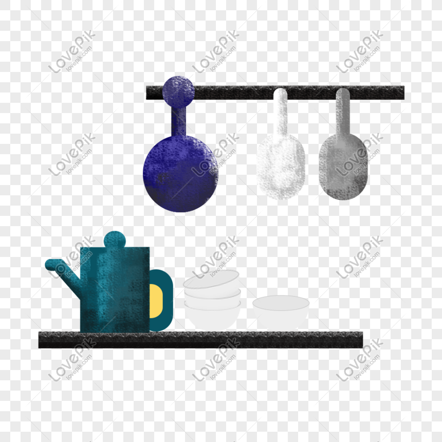 utensilios de cocina pintados a mano de diseño Imagen ...