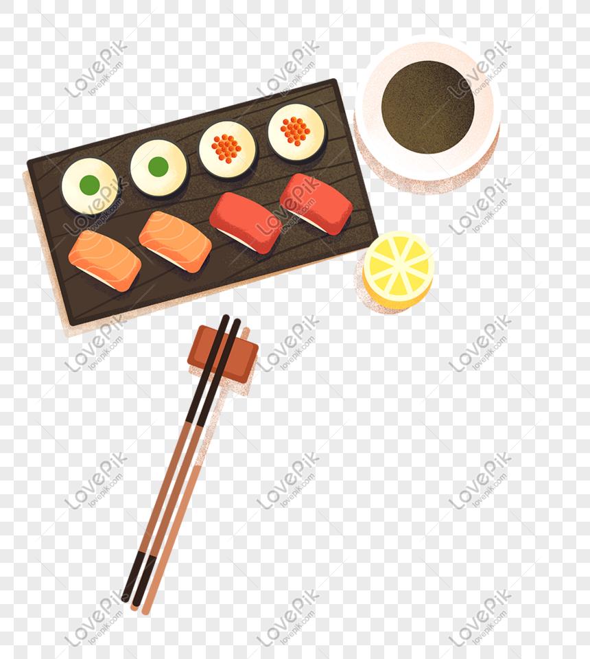 japanese food cartoon sushi png