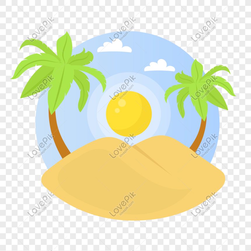 grande verão pequena praia de verão coqueiro png
