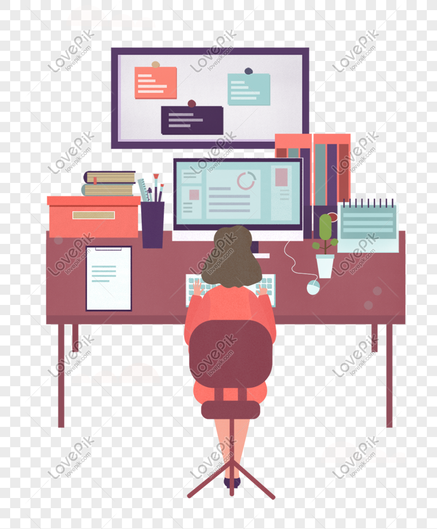 Cartoon Woman Working In The Office Png Image Picture Free Download 610862557 Lovepik Com