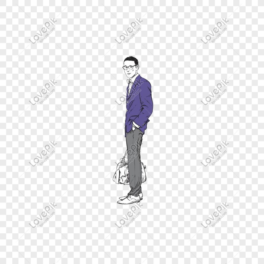Kartun Pria Tampan Dengan Kacamata Hitam Png Grafik Gambar Unduh Gratis Lovepik