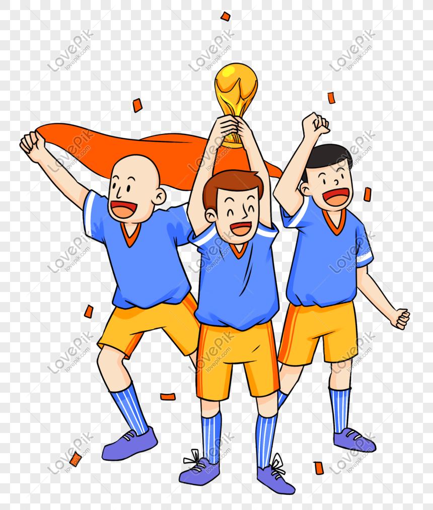 Ilustrasi Adegan Penghargaan Juara Piala Dunia Rusia PNG