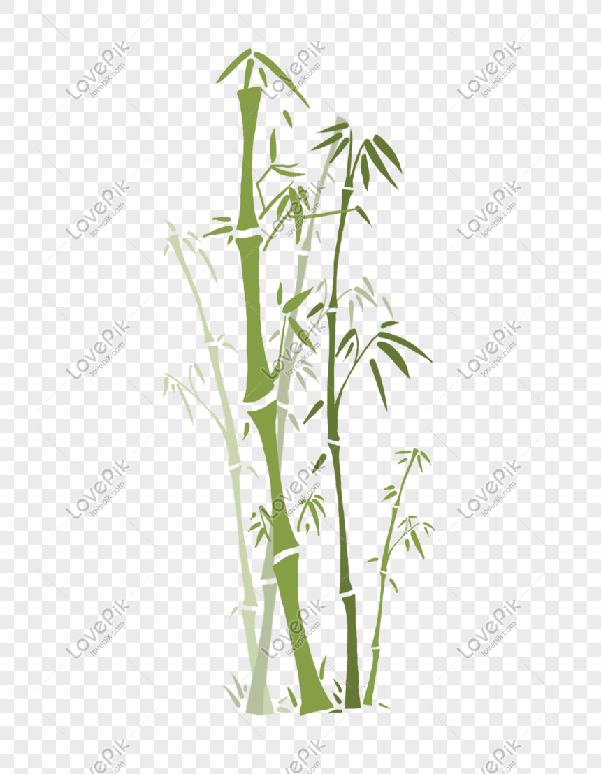 Bamboo Chinese Style Plant Ink Png Image Picture Free