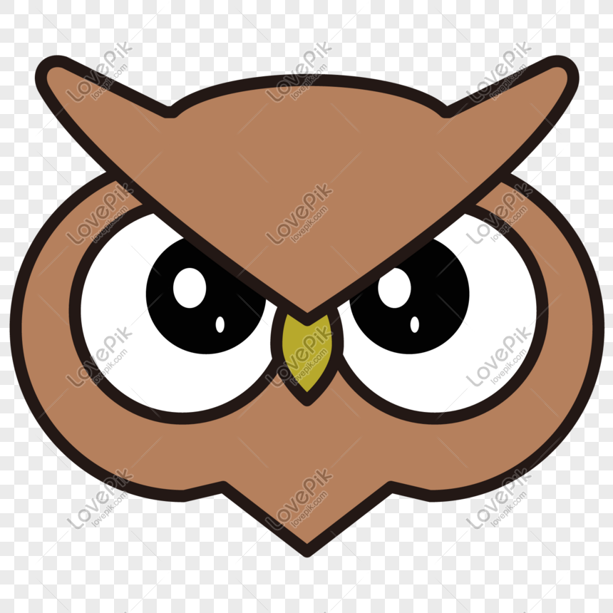 hand drawn cartoon cute owl png