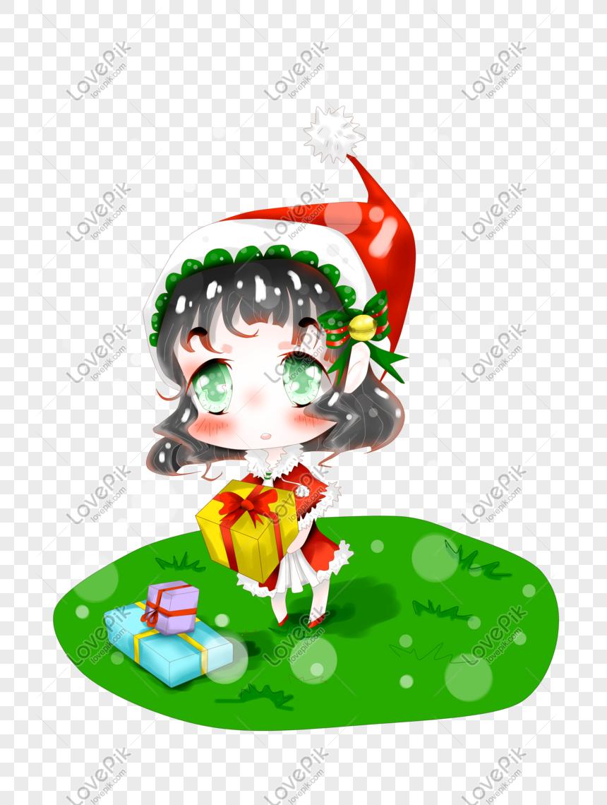 Karakter Ilustrasi Anime Natal Png PNG Grafik Gambar Unduh