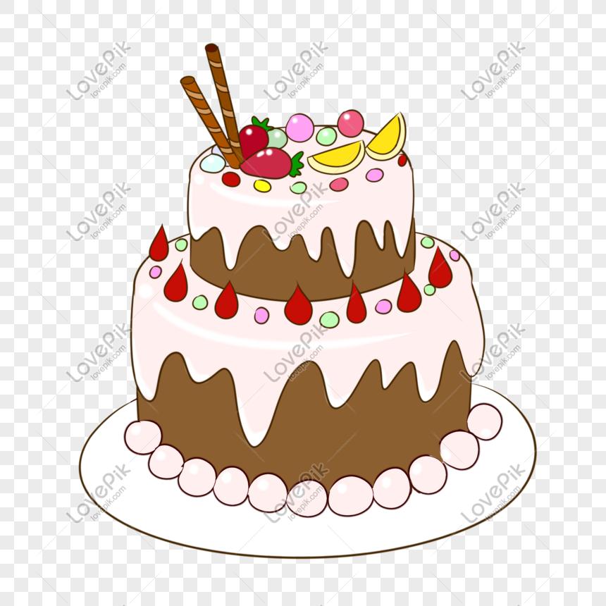 Kue Kartun Kue Ulang Tahun Hari Valentine Cina Gambar Unduh