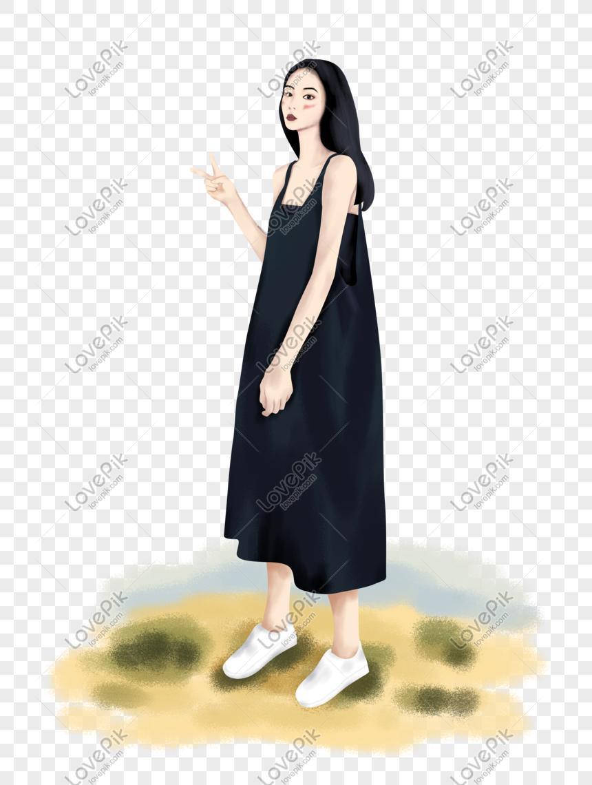 Gambar Kartun Wanita Rambut Panjang Memakai Gadis Rambut Panjang Pada Musim Panas Gambar Unduh Gratis Imej 610946086 Format Psd My Lovepik Com