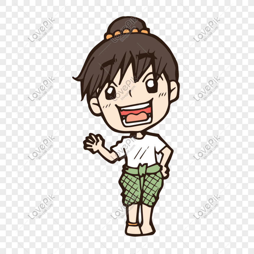 Versi Kartun Q Besar Kepala Kecil Gadis Segar Gambar Unduh Gratis Imej 610962689 Format Psd My Lovepik Com