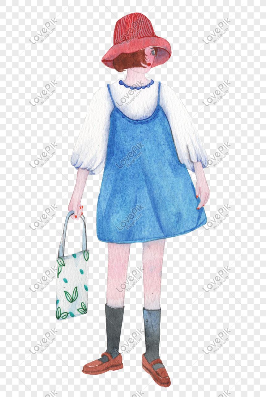 Fesyen Memakai Gadis Kecantikan Cat Air Lukisan Tangan Gambar Unduh Gratis Imej 610971774 Format Psd My Lovepik Com