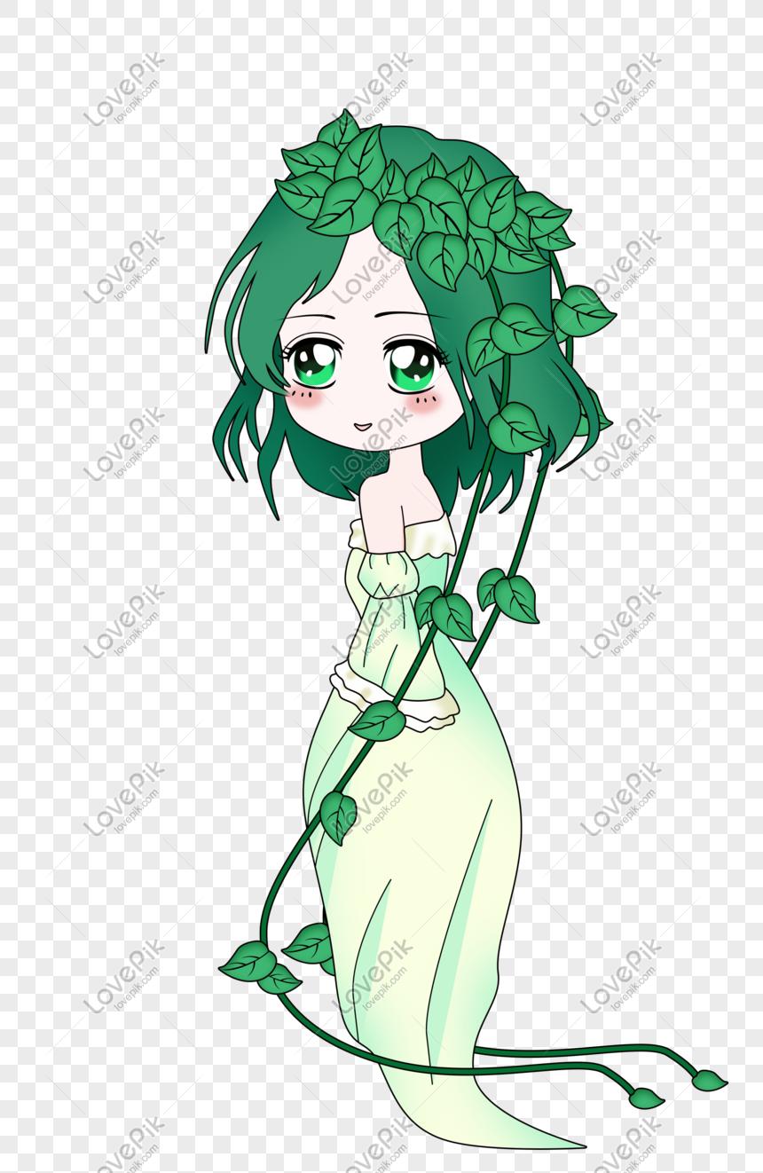 Criatura De Desenho Animado De Fantasia Elfo Arvore Imagem