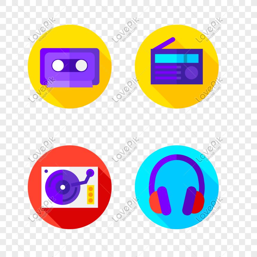 Ikon Vektor Kartun Suara Musik Gambar Unduh Gratis Grafik