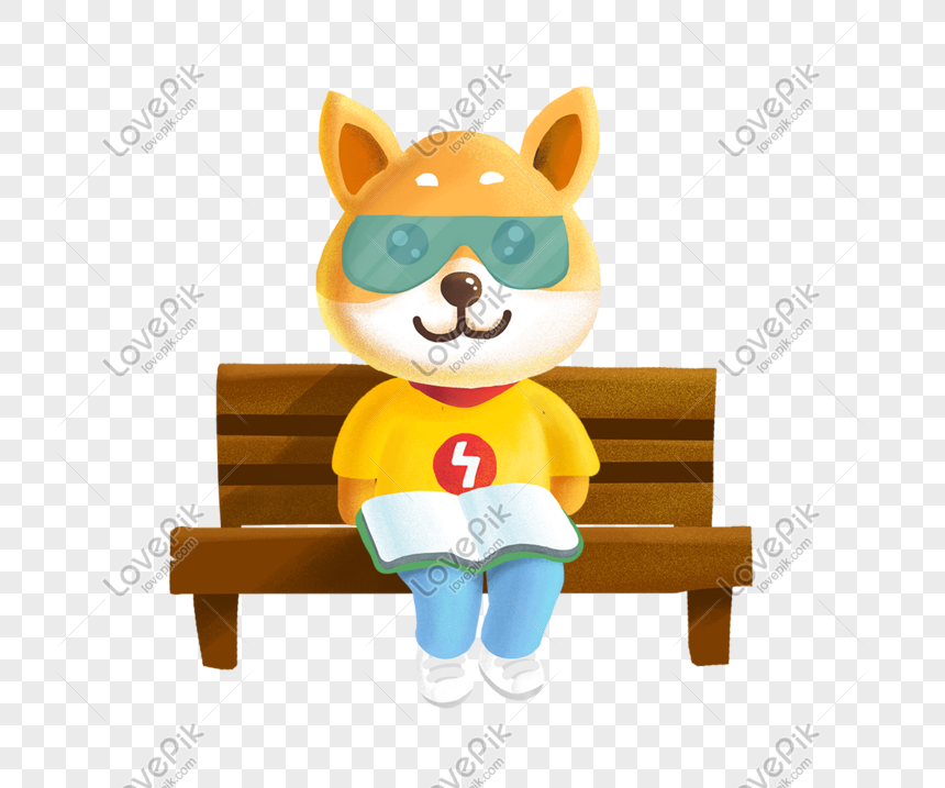 Cartoon Lightning Bolt Puppy Illustration Reading A Book Png Image Picture Free Download 611004174 Lovepik Com