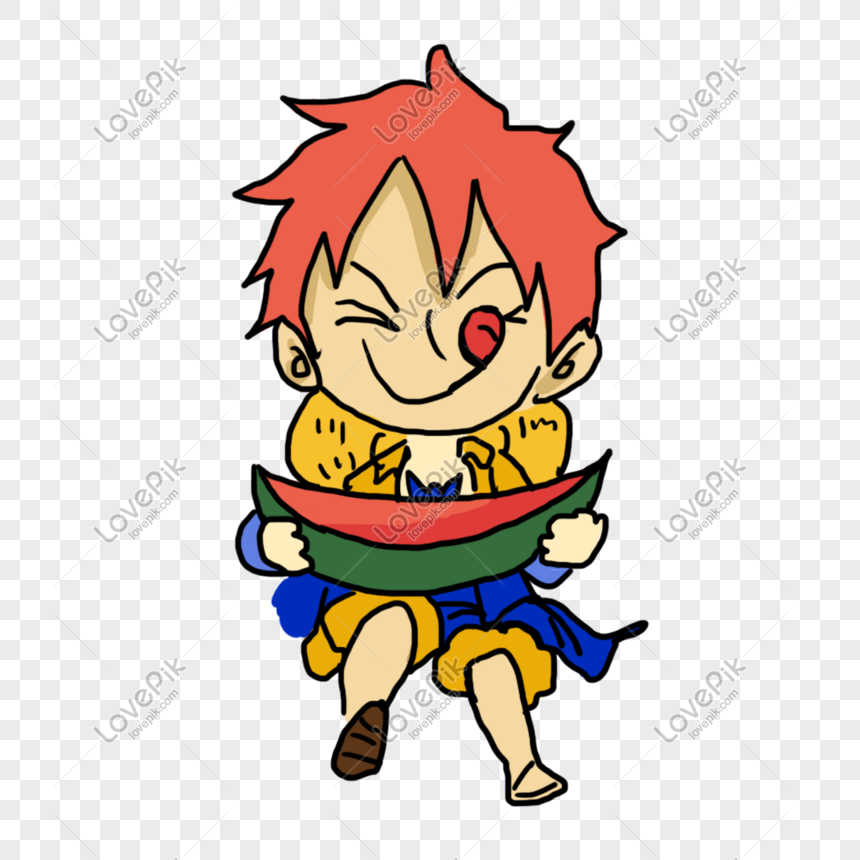 Niño Niño Verano Fruta Vector De Dibujos Animados Niño Comiendo
