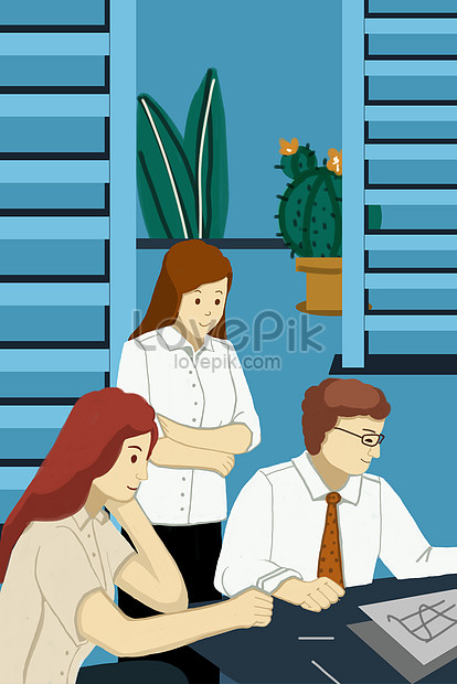 business finance office workplace office worker illustration png