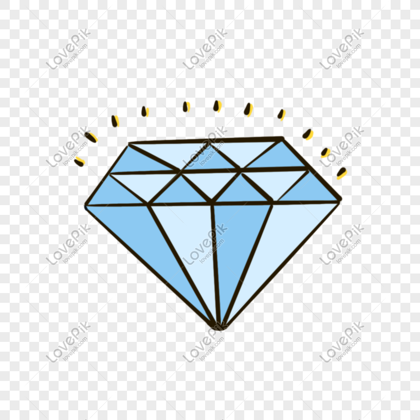 Hand drawn glowing diamond download png image_picture free download