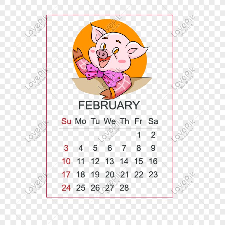 kartun yang digambar tangan 2019 tahun dari kalender babi februa