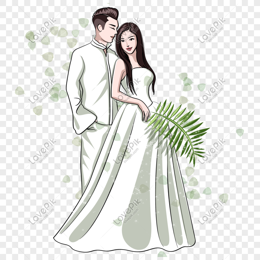 Chinese Valentines Day White Beautiful Cartoon Couple Png Image Picture Free Download 611043992 Lovepik Com