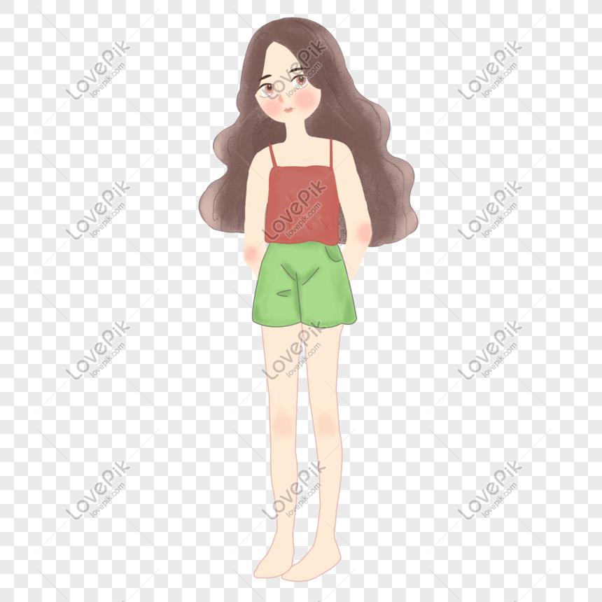 夏身に着けているクールな女の子漫画イラストpngイメージ グラフィックス Id Prf画像フォーマットpsd Jp Lovepik Com