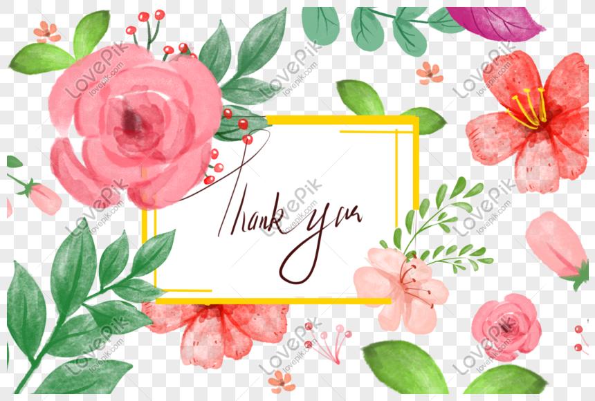 Colorido Acuarela Flores Png Fondo Transparente Imagen