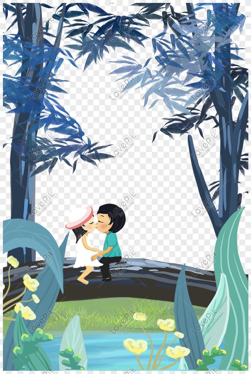 Frontera De Dibujos Animados Decorativo De Ensueño Chino Del