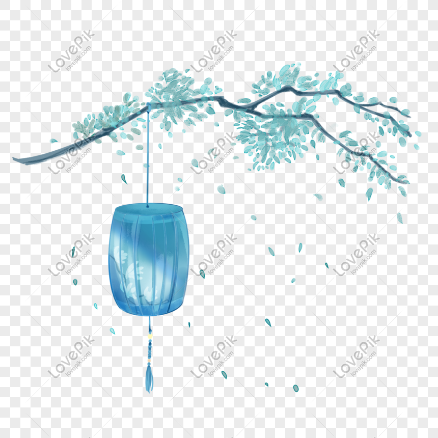 ancient style theme lantern hand drawn illustration png