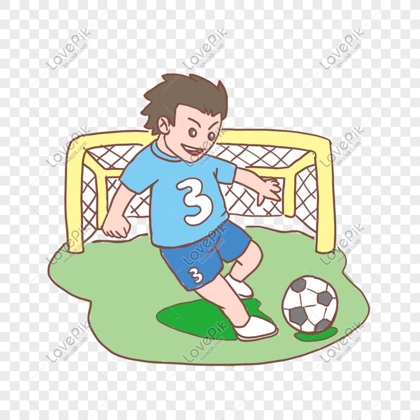 Murid Musim Sekolah Bermain Sepak Bola Kartun Yang Digambar Tang Png Grafik Gambar Unduh Gratis Lovepik