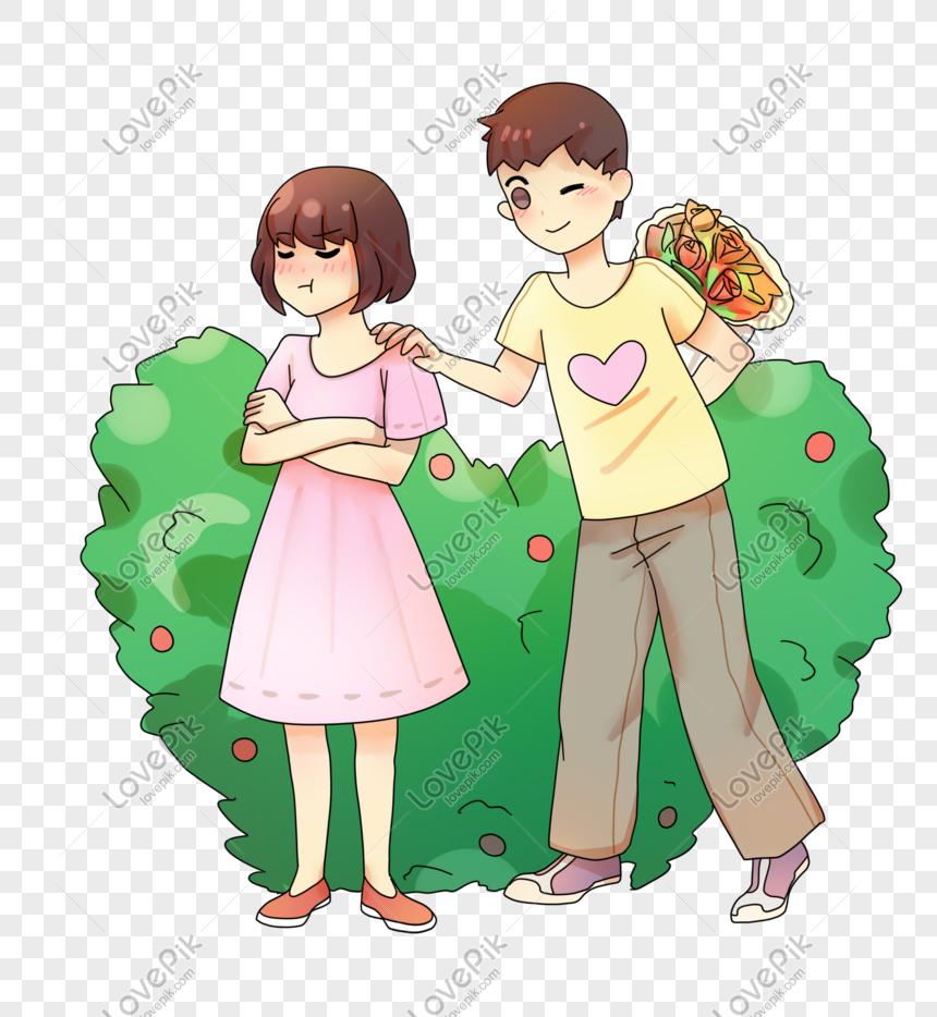 Hari Valentine Cina Hari Valentine Kartun Ilustrasi Gambar