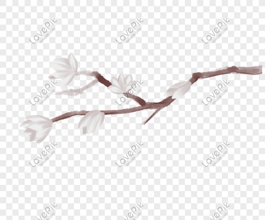 ancient style theme plum hand drawn illustration png