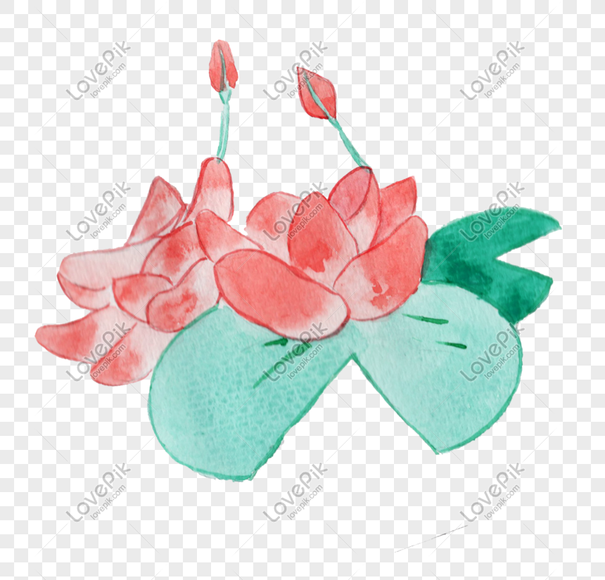 ancient style theme lotus hand drawn illustration png