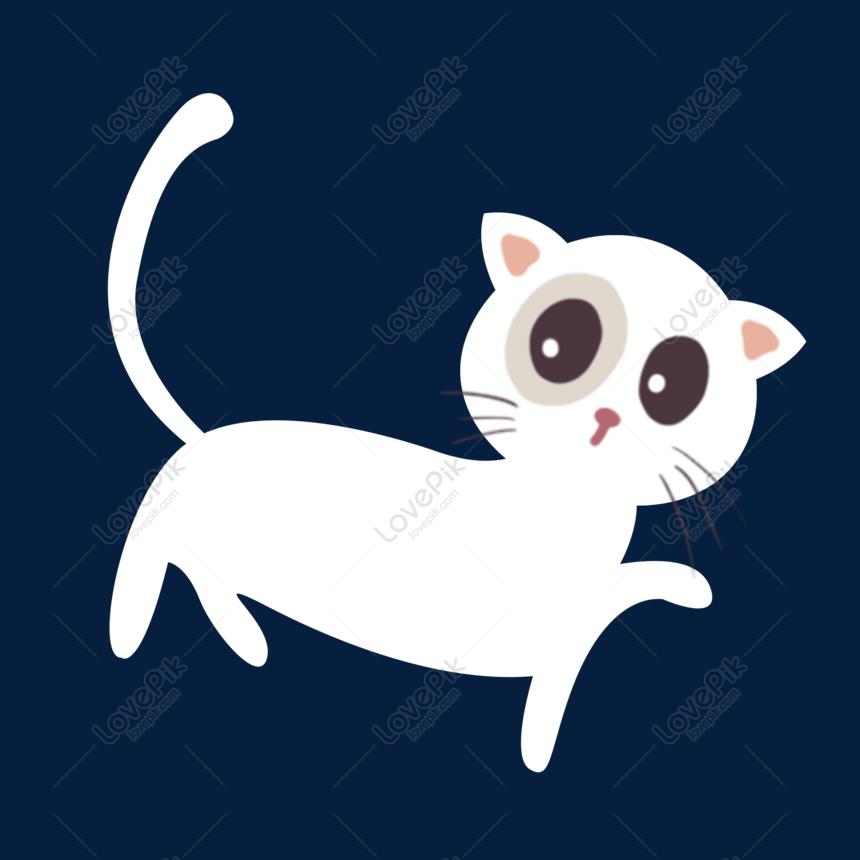 Download 63+  Gambar Kartun Kucing Putih Terbaik