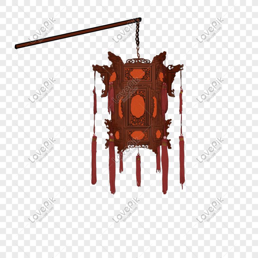 ancient style theme lantern hand drawn illustration png