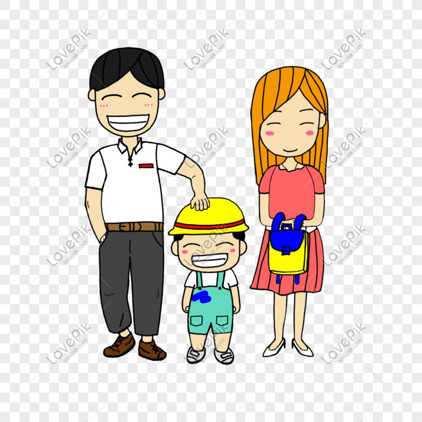 Ibu Dan Ayah Menghantar Anak Mereka Ke Sekolah Gambar Unduh Gratis Imej 611123323 Format Psd My Lovepik Com