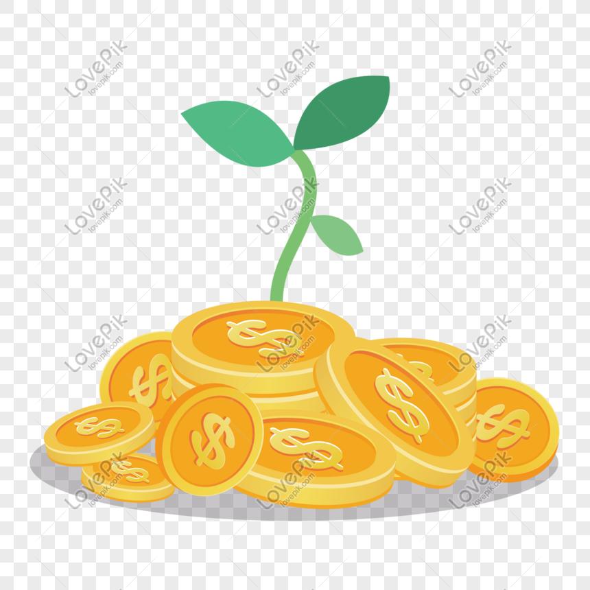 Gambar Uang Koin Kartun Ilustrasi Uang Koin Kartun Png Grafik Gambar Unduh Gratis Lovepik