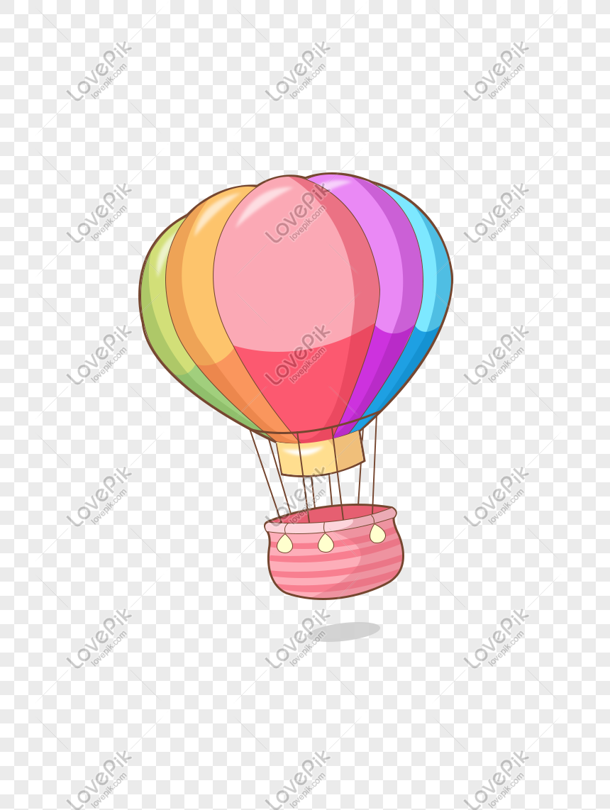 Tanabata Colorful Pink Romantic Cute Cartoon Hot Air Balloon