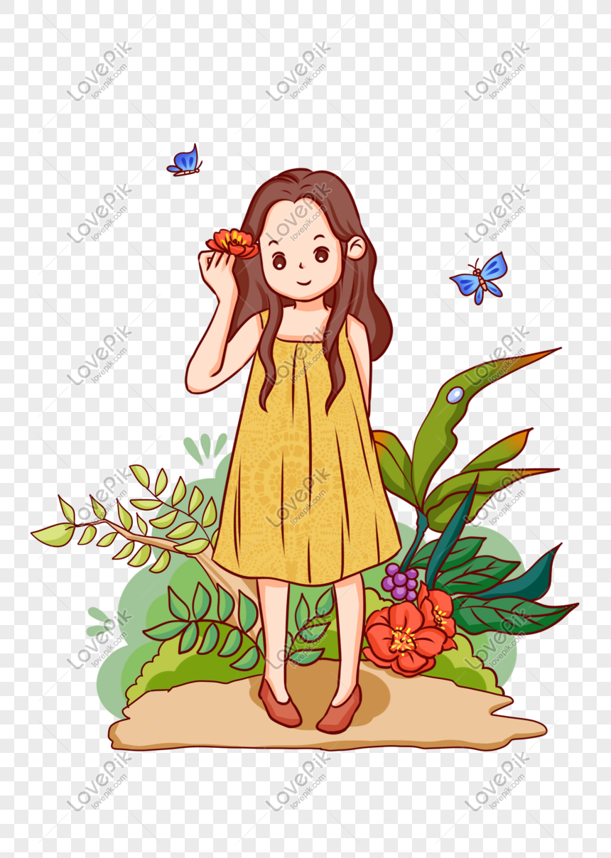 Twenty Four Solar Terms Cute Cute Cartoon Girl Illustration