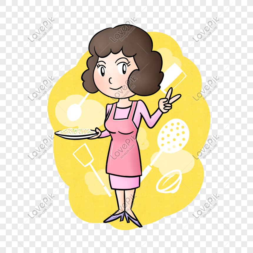 Cartoon Mom Chef Cooking Png Transparent Bottom Png Image Picture Free Download 611143367 Lovepik Com