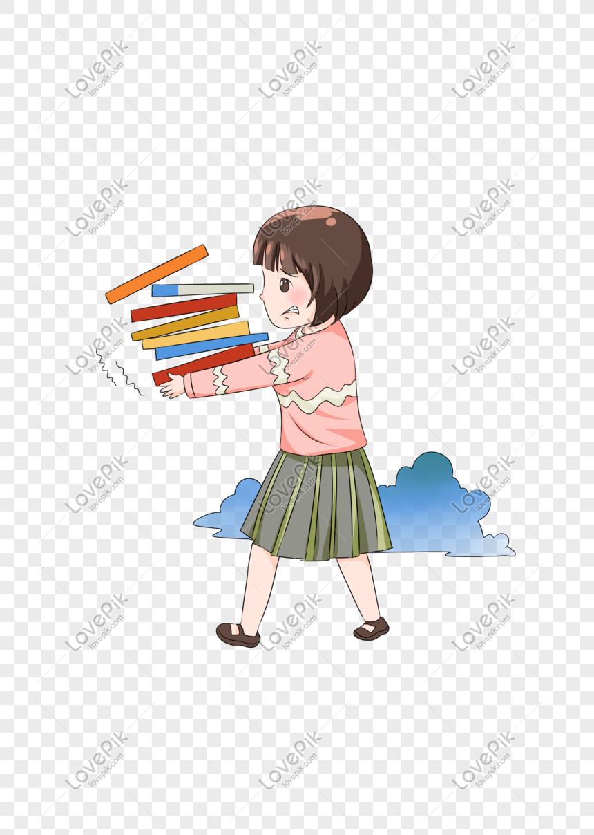 Karakter Gambar Tangan Buku Bergerak Ilustrasi PNG Grafik