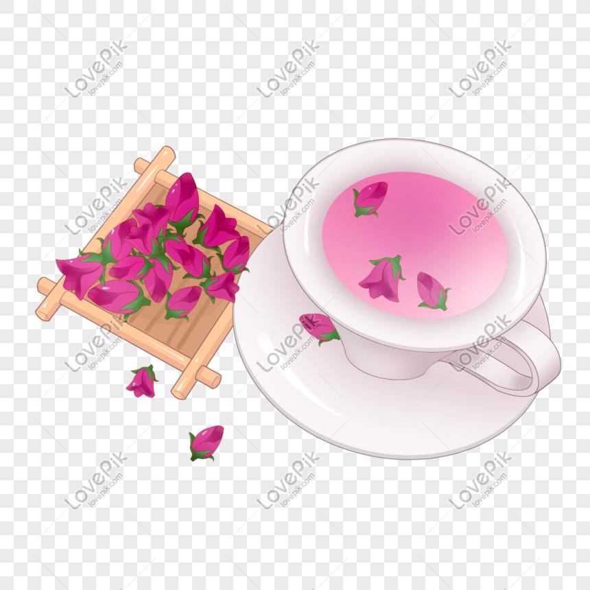 Ilustrasi Bunga Mawar Yang Ditarik Tangan Gambar Unduh Gratis