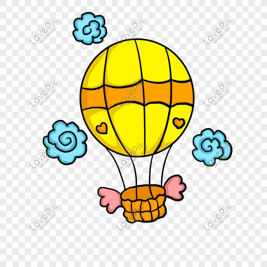 Ilustrasi Kartun Udara Berwarna Kuning Panas Bergambar Tangan Gambar Unduh Gratis Imej 611205858 Format Psd My Lovepik Com