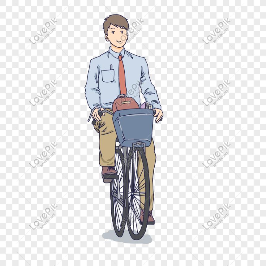 Ilustrasi Naik Sepeda Anak Sekolah Kartun Png Grafik Gambar Unduh Gratis Lovepik