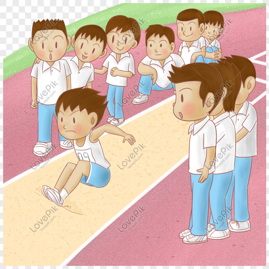 Kartun Sekolah Rendah Dan Menengah Permainan Sukan Panjang Lompa Gambar Unduh Gratis Imej 611224414 Format Psd My Lovepik Com