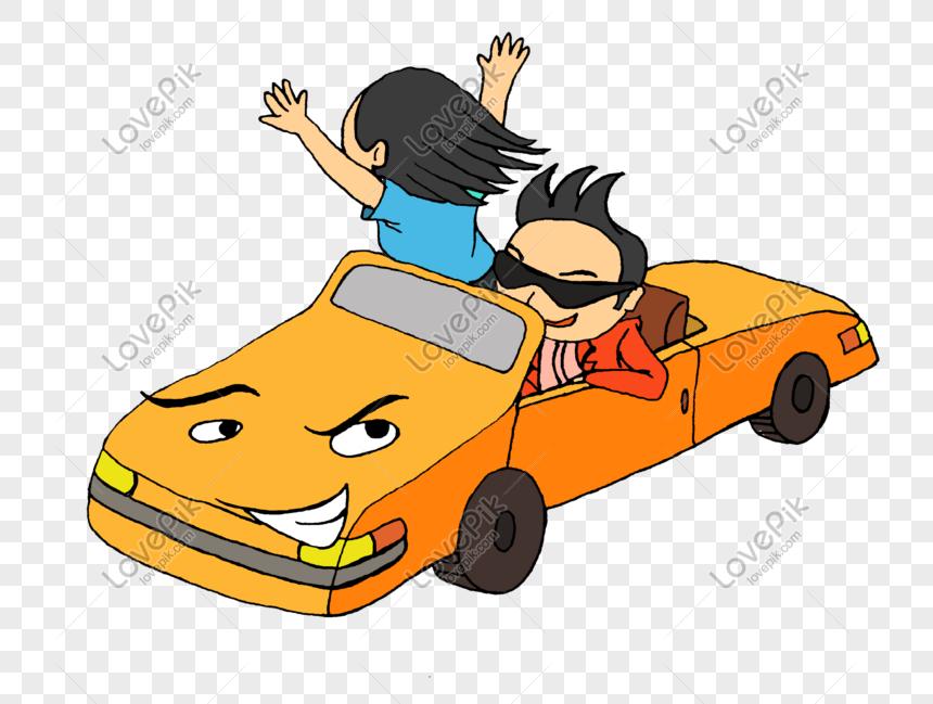 84 Gambar Kartun Orang Mengendarai Mobil Terbaik