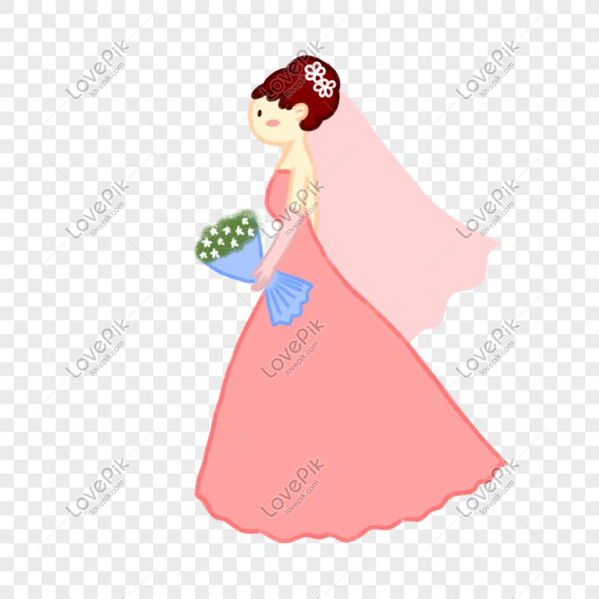 hand drawn vector cartoon cute little fresh wedding bride png image picture free download 611277919 lovepik com lovepik